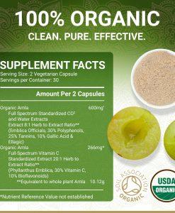 True Veda Organic Amla Supplement Facts