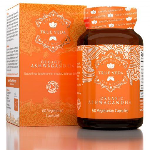 True Veda Organic Ashwagandha Capsules