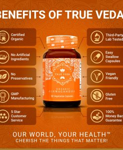 True Veda Organic Ashwagandha Benefits