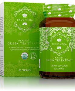 True Veda Organic Green Tea Extract Capsules