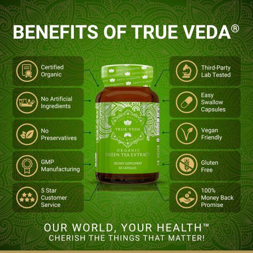 True Veda Organic Green Tea Extract Benefits