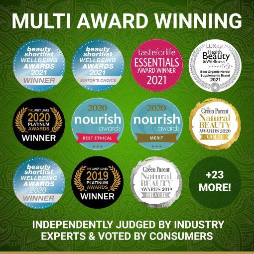 True Veda Organic Green Tea Extract Awards