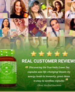 True Veda Organic Green Tea Extract Testimonials