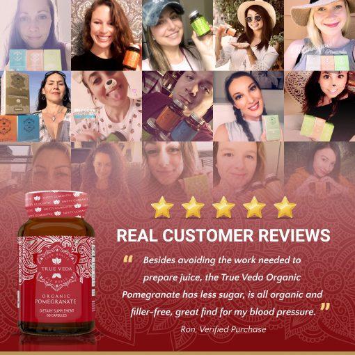 True Veda Organic Pomegranate Extract Testimonials