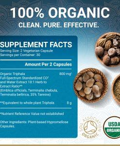 True Veda Organic Triphala Supplement Facts