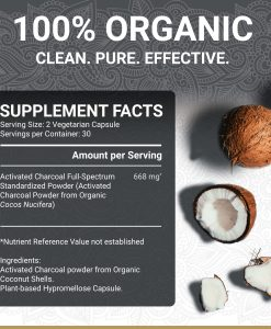 True Veda Activated Charcoal Supplement Facts
